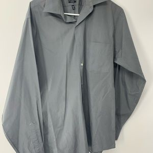 Long Sleeve Grey Button Up